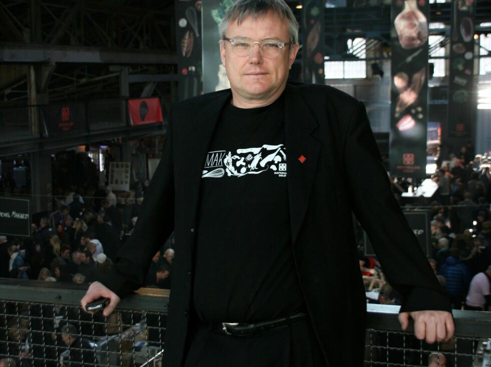 Festivalsjef Sverre Landmark viser stolt frem Mathallen på Vulkan. Foto: Sebastian Berg Hestvedt