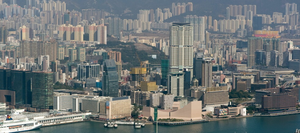 DEN BESTE GRATISOPPLEVELSEN I HONG KONG: Det er gratis å ta seg en gåtur langs vannkanten av Tsim Sha Tsui. Foto: Wikimedia