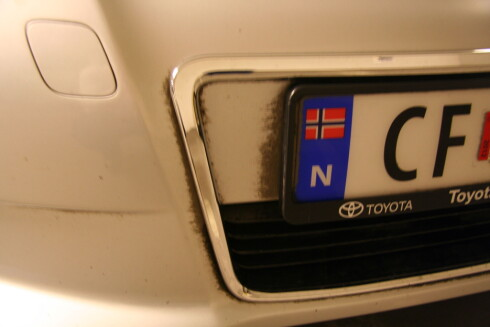 "Vaskeresultat etter ""gullvask"". Foto: NAF"