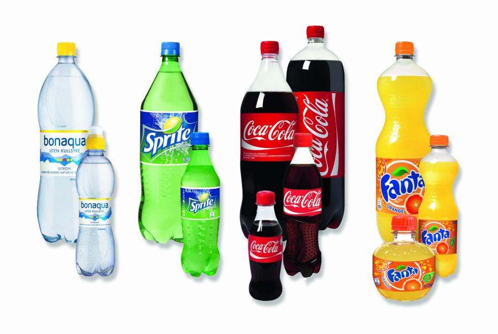 Slik ser Coca-Cola for seg at de nye brusflaskene kan komme til å se ut.