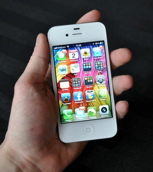 HAR RETINA DISPLAY: iPhone 4.  Foto: Pål Joakim Olsen