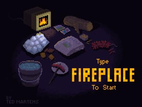 HM: Her ligger det mye rart. Alle tingene er hint til hva du kan skrive inn mens peisen brenner.  Foto: Fireplace