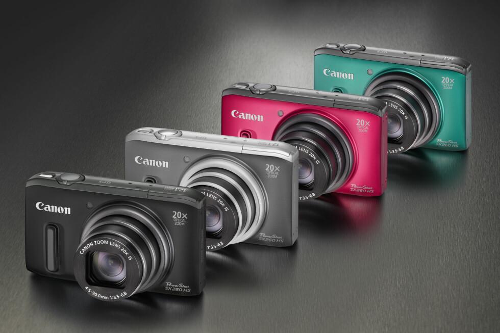 Kameraene leveres i flere farger Foto: Canon
