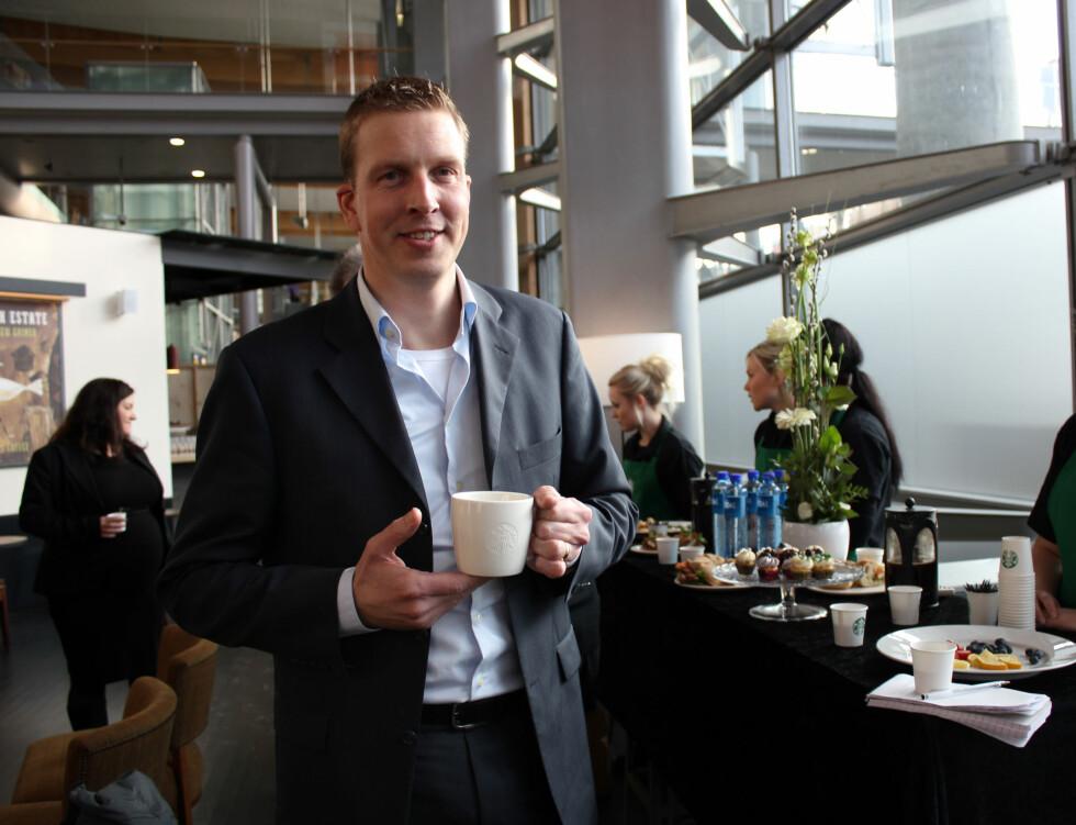 """Arjan Oudejans' yndingskaffe er """"Kinjia"""".  Foto: Silje Ulveseth"""