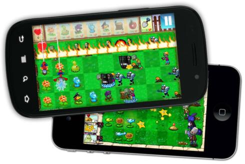 FALSK: Plants vs. Zombies er et av spillene det finnes falske kloner av på Android Market. Disse er ikke nødvendigvis farlige.  Foto: Ole Petter Baugerød Stokke
