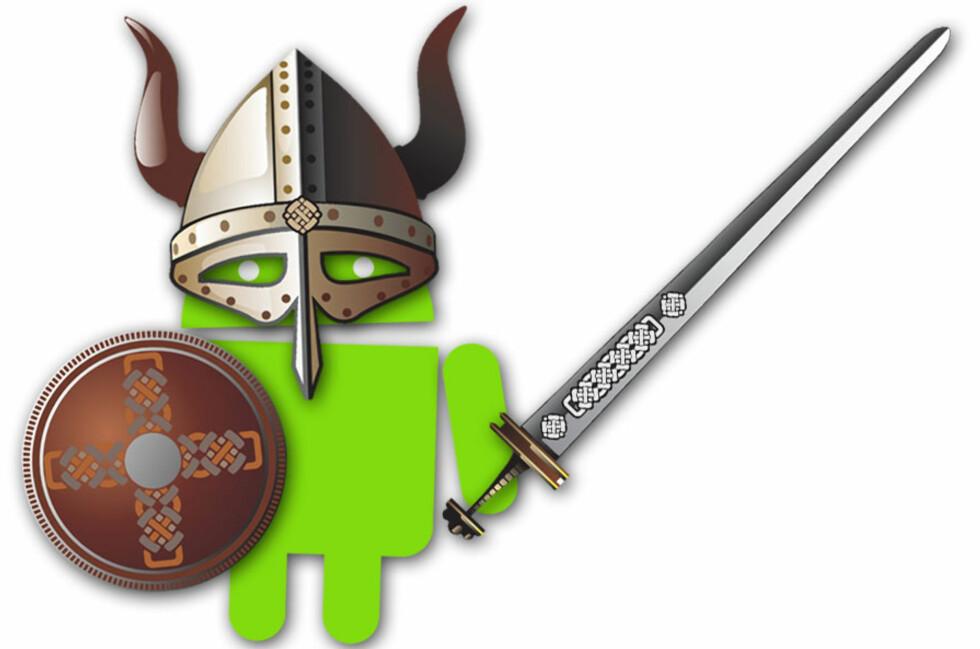 KJEMPER: Android har rykte på seg for å være mindre sikker enn konkurrentene, men ifølge Google er deres grønne gigant godt rustet mot truslene.  Foto: Ole Petter Baugerød Stokke/Colourbox