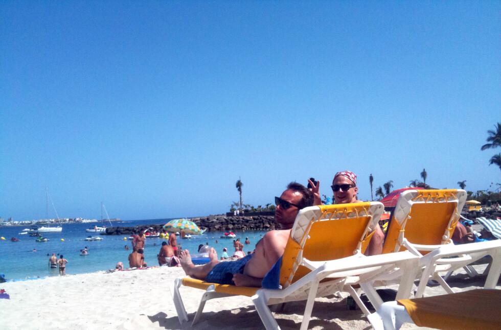 IKKE RØYKFRITT LIKEVEL: Det blir ikke innført røykeforbud på strendene sørvest på Gran Canaria. Kommunestyret i Mogan har trukket tilbake røykeforbudet på strendene.  Foto: Silje Ulveseth