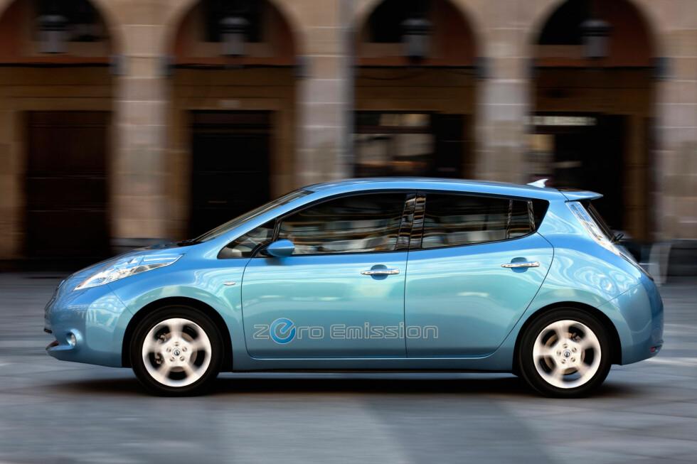 Nissan Leaf er for tiden den mest solgte elbilen i Norge. Foto: Nissan