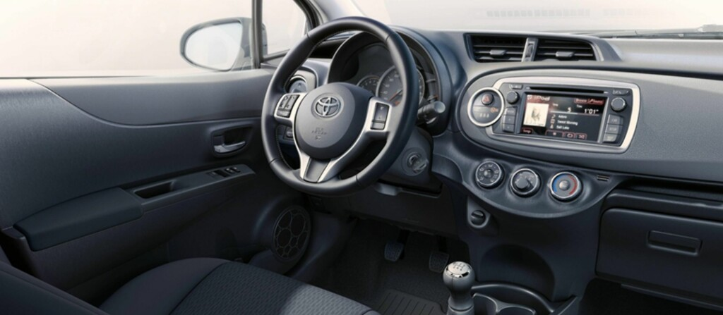 Toyota Yaris er en av de bilene som på uforklarlig vis virker større innvendig enn utvendig. Foto: Produsenten