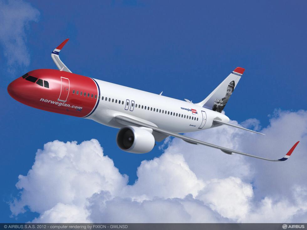 """NEO: Du kjenner igjen Airbus A320neo ved dens spesielle vingetupp, også kalt """"sharklet"""". Foto: Airbus"""