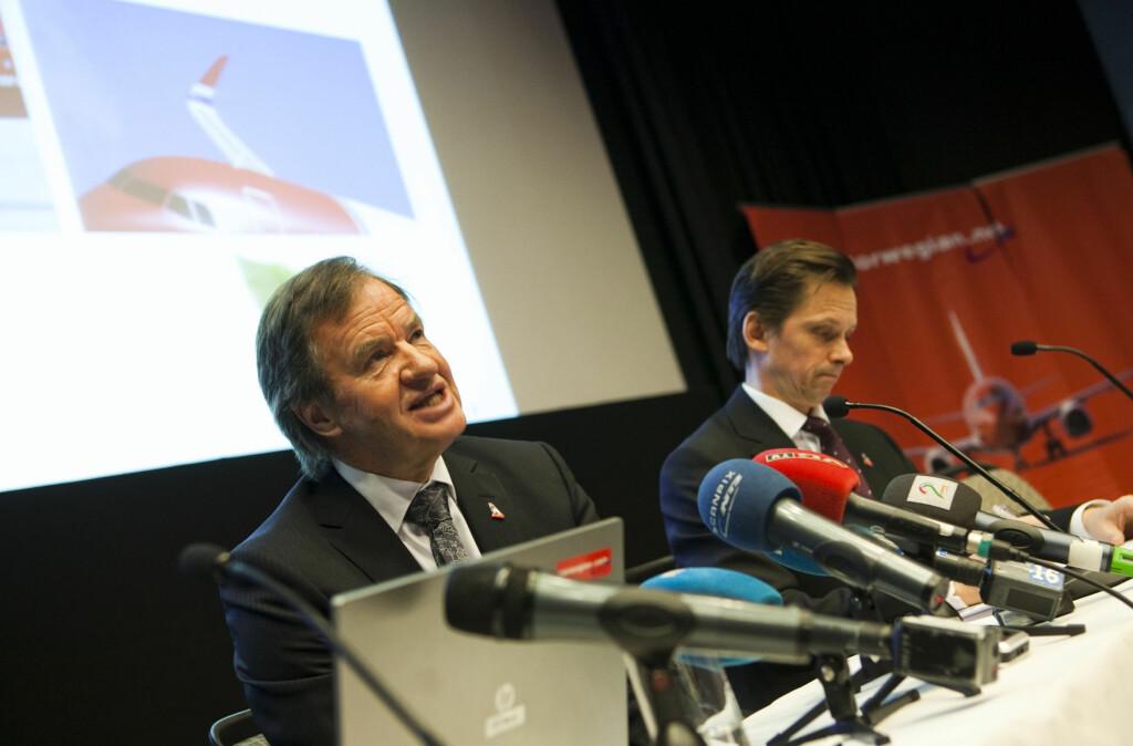 <b>ANGRER:</b> Administrerende direktør i Norwegian, Bjørn Kjos, angrer på at han ikke kjøpte flere fly i 2007. Foto: Per Ervland