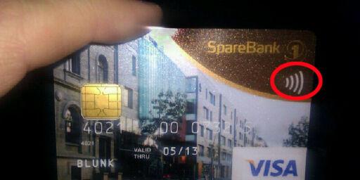 image: Kontaktløse kort i bruk i Norge