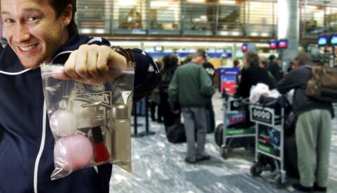 100 ML-REGEL:483 kilo kosmetikk fikk ikke lov til å bli med på flyreisen i fjor.  Foto: Per Ervland