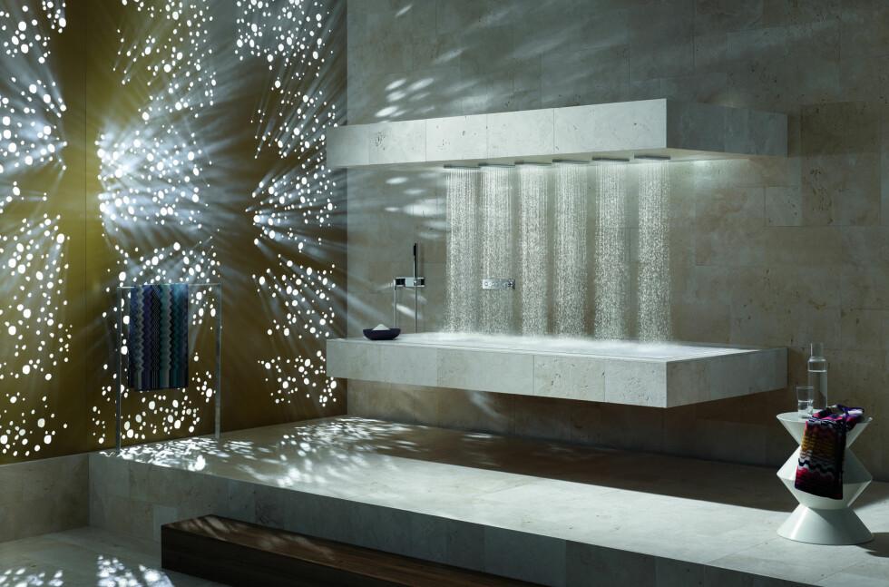 Jatakk. Vi vil gjerne starte dagen i en sånn dusj.  Foto: Dornbracht