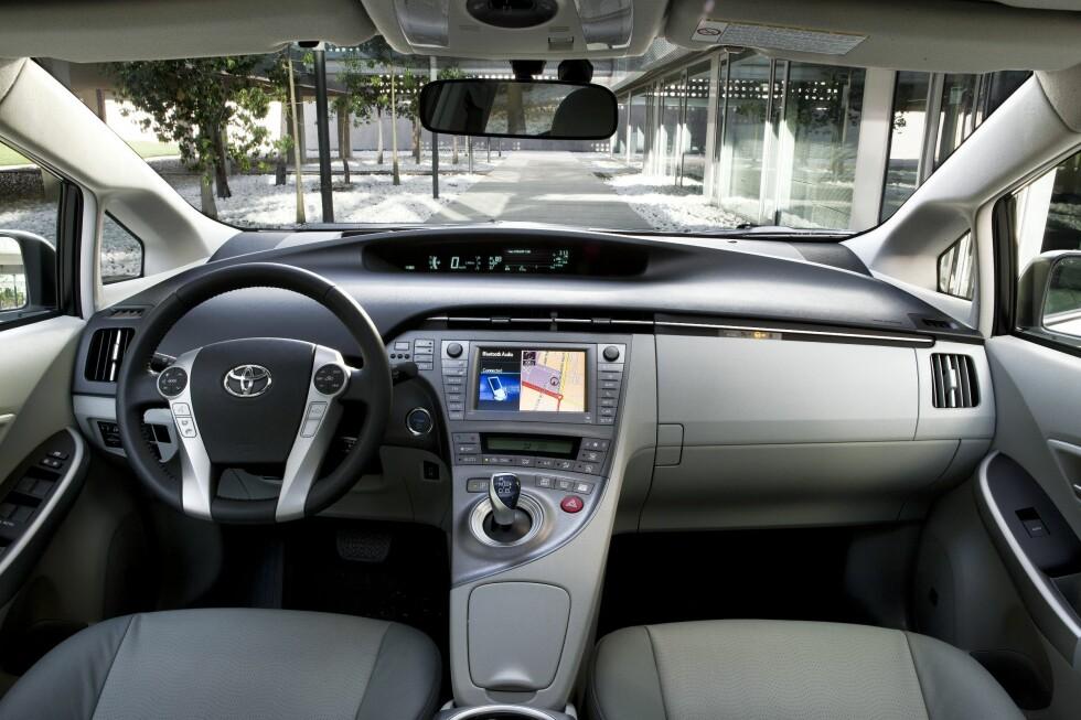 Detalj fra førermiljøet Foto: Toyota
