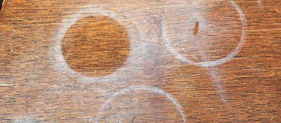 Verdens smarteste triks? Vår leser fjerner slike ringer med strykejern på 1-2-3. Foto: Ifi.no