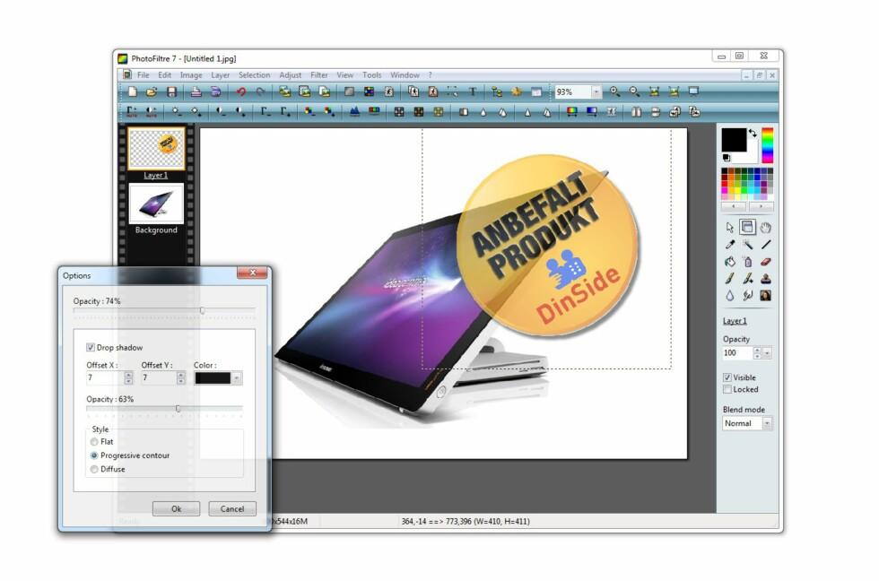 Photofiltre 7 kan erstatte behovet for Photoshop for mange, etter at gratisversjonen har fått omfattende støtte for lag (layers)