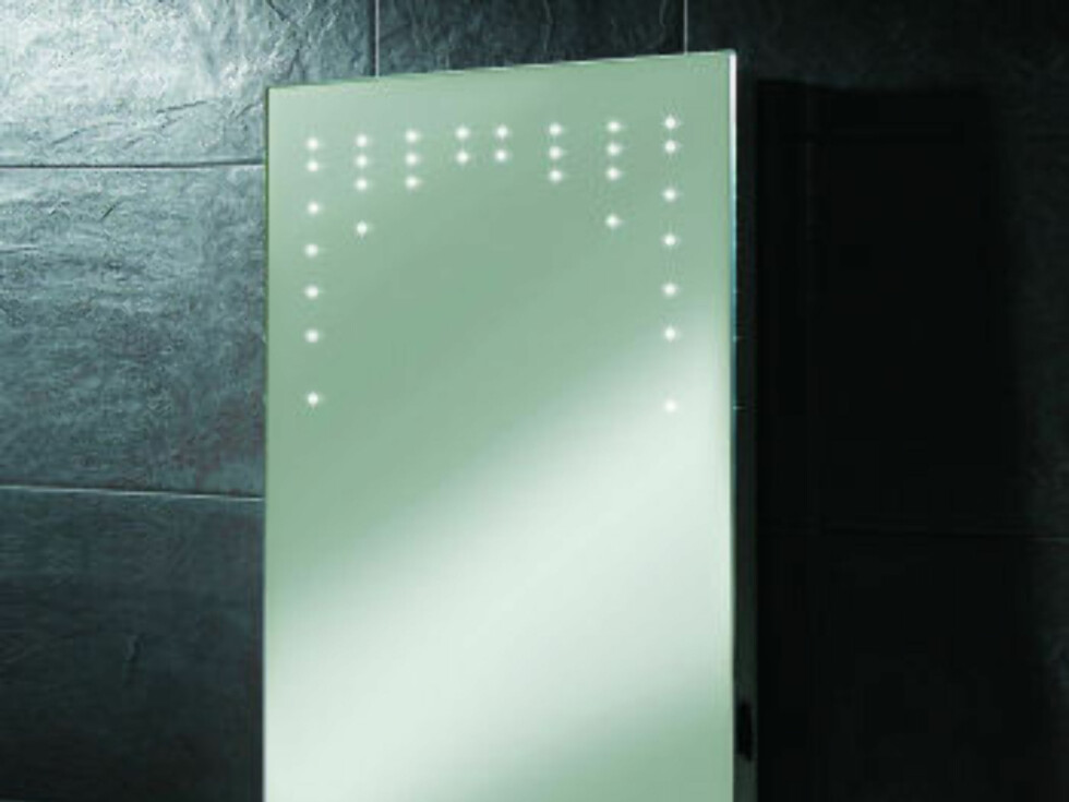 Rain antiduggspeil fra HIB med LED-lys til 246 pund (cirka 2.300 kroner) fra bathroom365.com. Foto: Produsenten