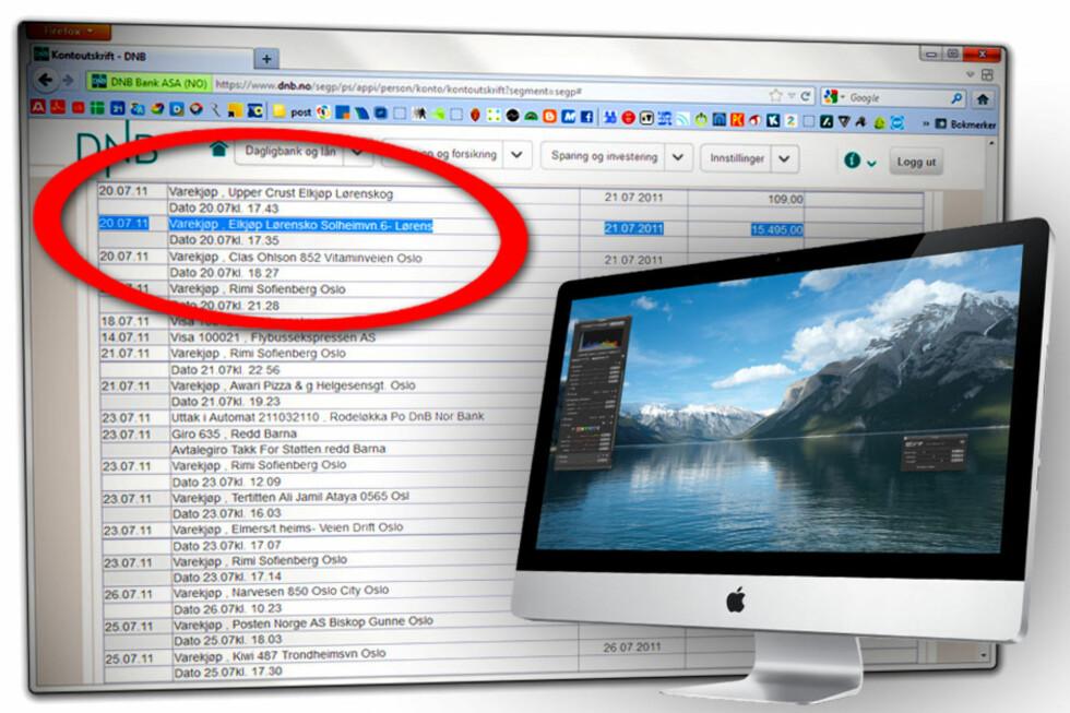 BEVIS: Den 20. juli i fjor kjøpte vi en iMac på Elkjøp Lørenskog. Her er beviset, og dette skal fungere like godt som en kvittering.  Foto: OLE PETTER BAUGERØD STOKKE