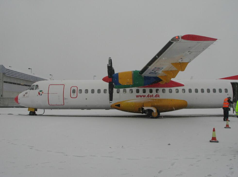 DATs ATR 72-202, med 66 seter. Foto: Kristin Sørdal