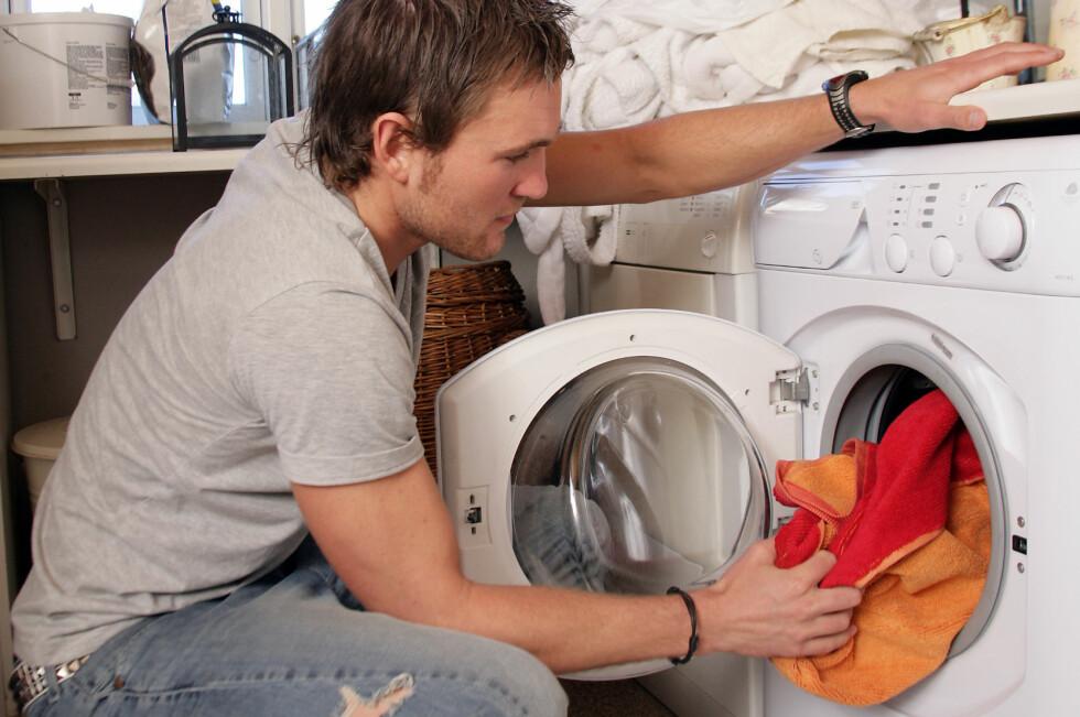 Vaskemaskinen følger med når selger flytter ut.  Foto: Colourbox
