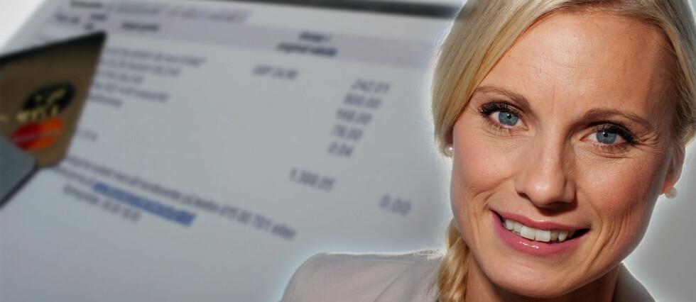 Forbrukerøkonom Silje Sandmæl i DNB sier at du for all del bør unngå at regningene hoper seg opp allerede i januar. De økonomiske konsekvensene kan bli betydelige, dersom du ikke gjør opp for deg. Foto: Kim Jansson og DNB