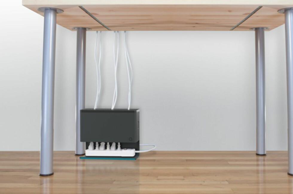 Plug Hub heter boksen som hjelper deg å holde gulvet fritt for kabelspagetti. Foto: Produsenten