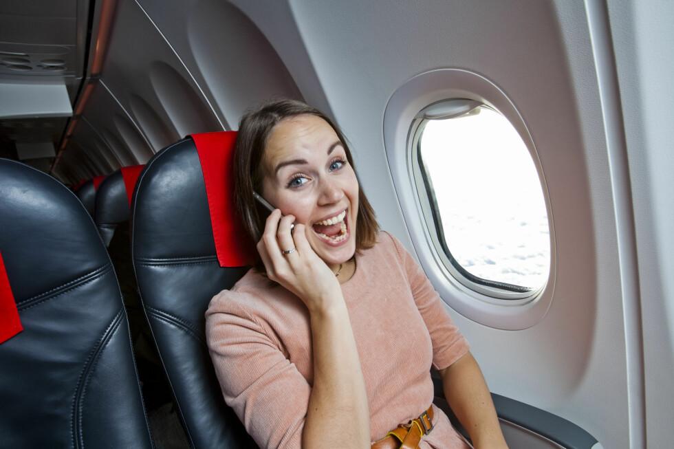 LETTERE I 2012: Til neste år kan du ringe fra SAS-fly som har WiFi. Da blir mobilreglene kanskje litt lettere å forholde seg til. Allerede nå kan du ringe fra Norwegian-fly som har WiFi. Foto: Per Ervland