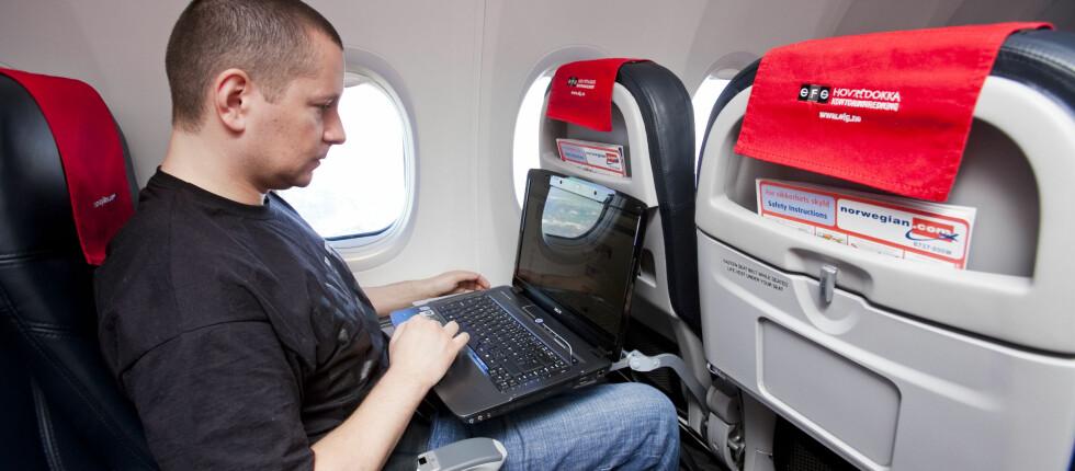 ALLEREDE PÅ NETT: Norwegian lanserte bredbånd på to av flyene sine tirsdag 8. februar 2011. Tirsdag 27. desember blir SAS-flåten Boeing 737-800 først ute med nett.  Foto: Per Ervland