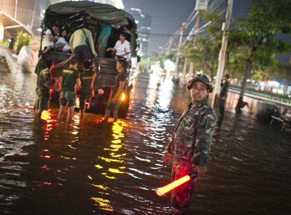 Flommen i Thailand skapte store problemer i høst. Foto: Colourbox.com