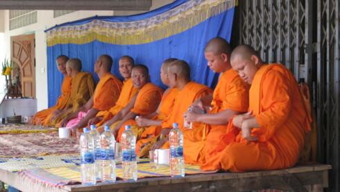 Buddhistmunkene bør du ikke berøre, om du er kvinne. Foto: Colourbox.com