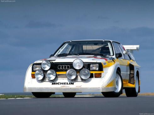 DENNE STÅR I VEIEN: S1 var betegnelsen som ble brukt på dette rally-monsteret på 80-tallet. Legenden får kanskje beholde emblemet som en eksklusiv hyllest.