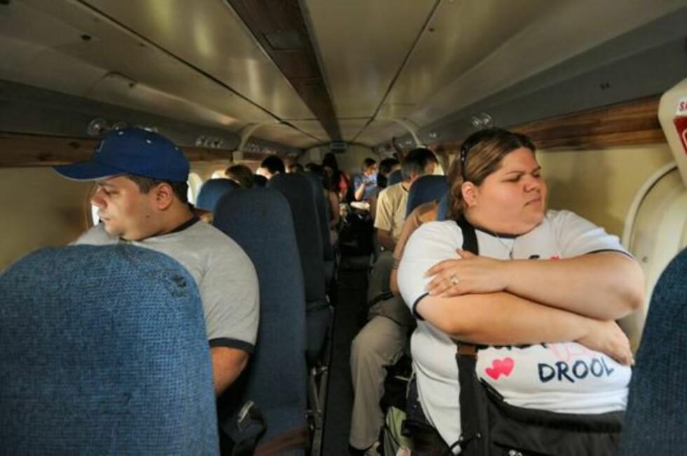 """FINN KJÆRLIGHETEN PÅ FLYET: KLM lanserer en dating-tjeneste om bord fra nyttår. Tjenesten har fått navnet """"meet and seat"""". Foto: Hans Kristian Krogh-Hanssen"""