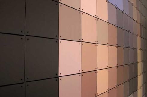 Slik ser veggen ut på nært hold. Foto: Produsenten