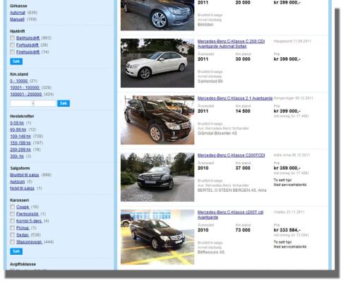 Intens jakt på de største bruktbilbasene kan gi deg svært gode kjøp. <br /> (bilde hentet fra finn.no)