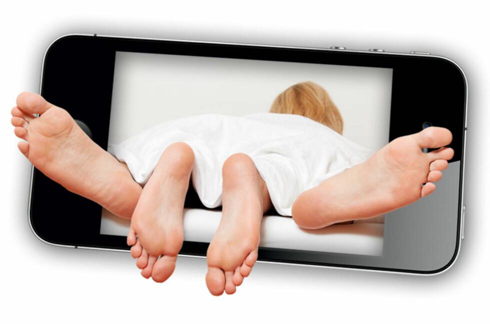 MOBILPORNO: Mannen fikk koden til pornofilmen på mobilen sin. Dermed var det gjort, og regningene flommet inn.  Foto: OLE PETTER BAUGERØD STOKKE
