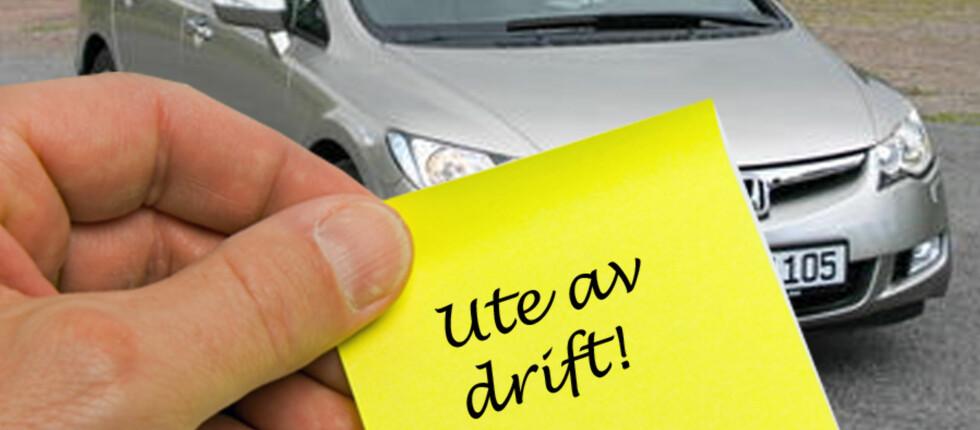 HUSK Å VARSLE: Ved å legge en lapp i frontruta eller helst ringe parkeringsselskapet, kan du slippe unna unødvendige parkeringsbøter. Foto: Colourbox.com/illustrasjon.