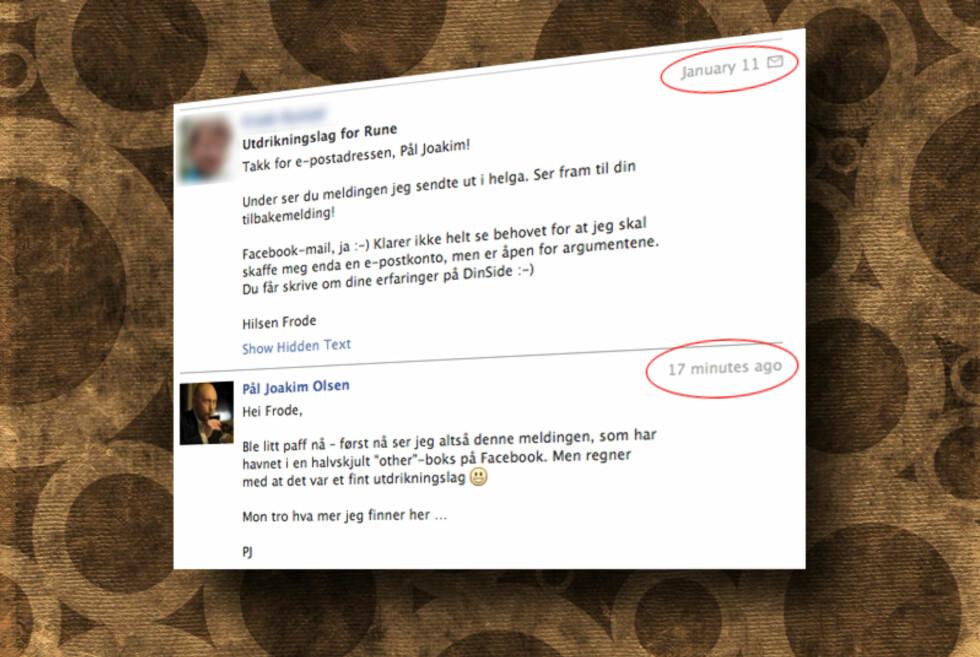 Kanskje har du noen Facebook-meldinger du ikke har lest? Vi fant i hvert fall en drøss.