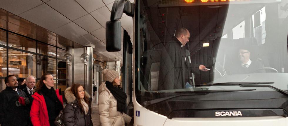 PRISGARANTI PÅ BUSSEN: Swebus lanserer et prøveprosjekt med prisgaranti på strekningen Oslo-København, som også inkluderer alle delstrekningene derimellom. Foto: Swebus