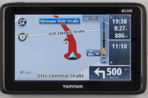 TomTom er testvinner i ADAC sin test av navigasjonssystemer for bil. Foto: ADAC.de
