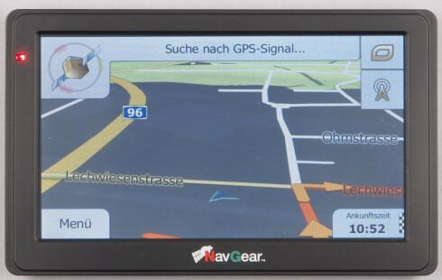 Testtaperen: NavGear StreetMate GTX-60-3D. Foto: ADAC.de