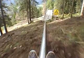 Kjøre ned bakken uten ski?