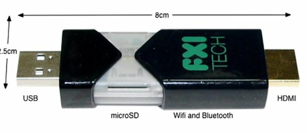 En 8 cm lang datamaskin med kraft nok til å vise HD-filmer, og med inntil 64 GB lagringsplass. Cotton Candy er utviklet av norske FXI Technologies.