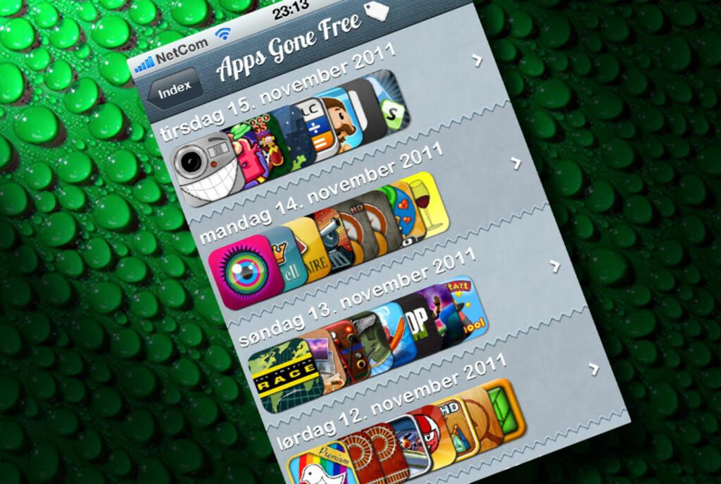 Apps Gone Free gir deg hver dag tips om apps som er gratis, men som kostet penger i går.