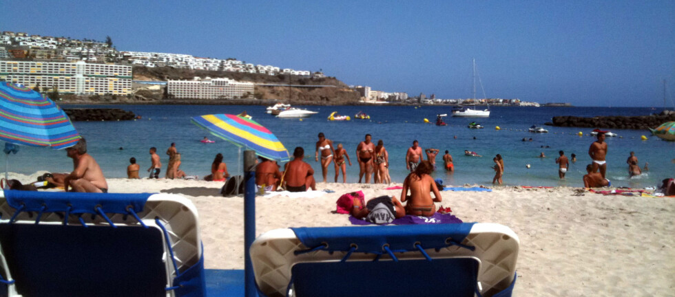 DRØMMER OM EN VARM JUL: Stadig flere nordmenn feirer jul på Gran Canaria. Foto: Silje Ulveseth
