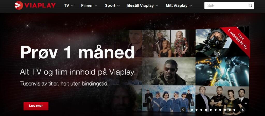 Er du usikker på om Viaplay er noe for deg? Nå kan du prøve gratis i en måned. Merk deg at sportsinnholdet ikke er omfattet av gratistilbudet. Foto: Viasat