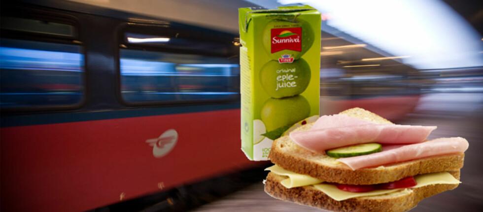 FROKOSTEN INGEN VIL HA? Slik ser den nye frokostpakken til NSB ut. Foto: Per Ervland/NSB