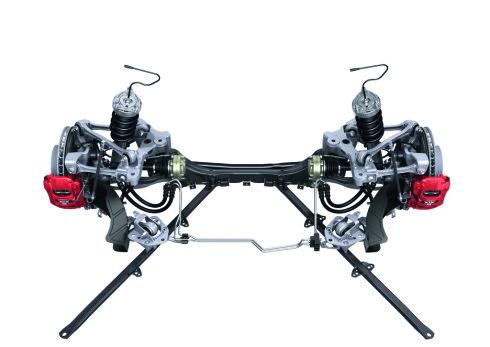 Mesteparten av chassiset er i aluminium.
