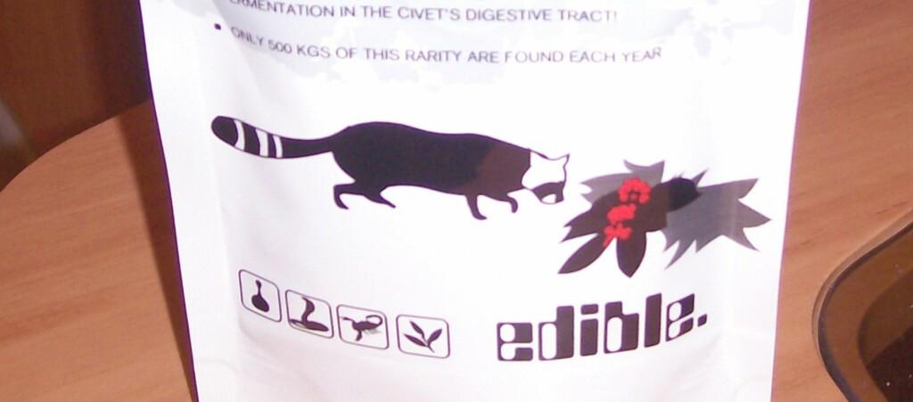 Kopi Luwak heter den eksklusive kaffen som har latt seg godgjøre i dyrebæsj.  Foto: Ewkaa/wikimedia