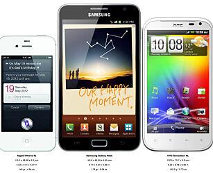 image: Hvor stor er telefonen?